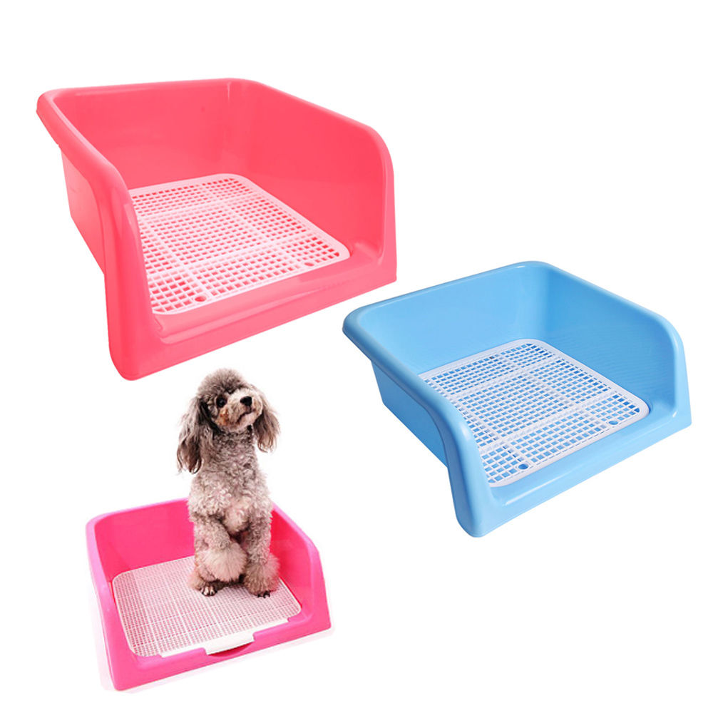 Zimtown Indoor Outdoor Pet Dog Puppy Potty Training Fence Tray Pad Pee Toilet Blue & White