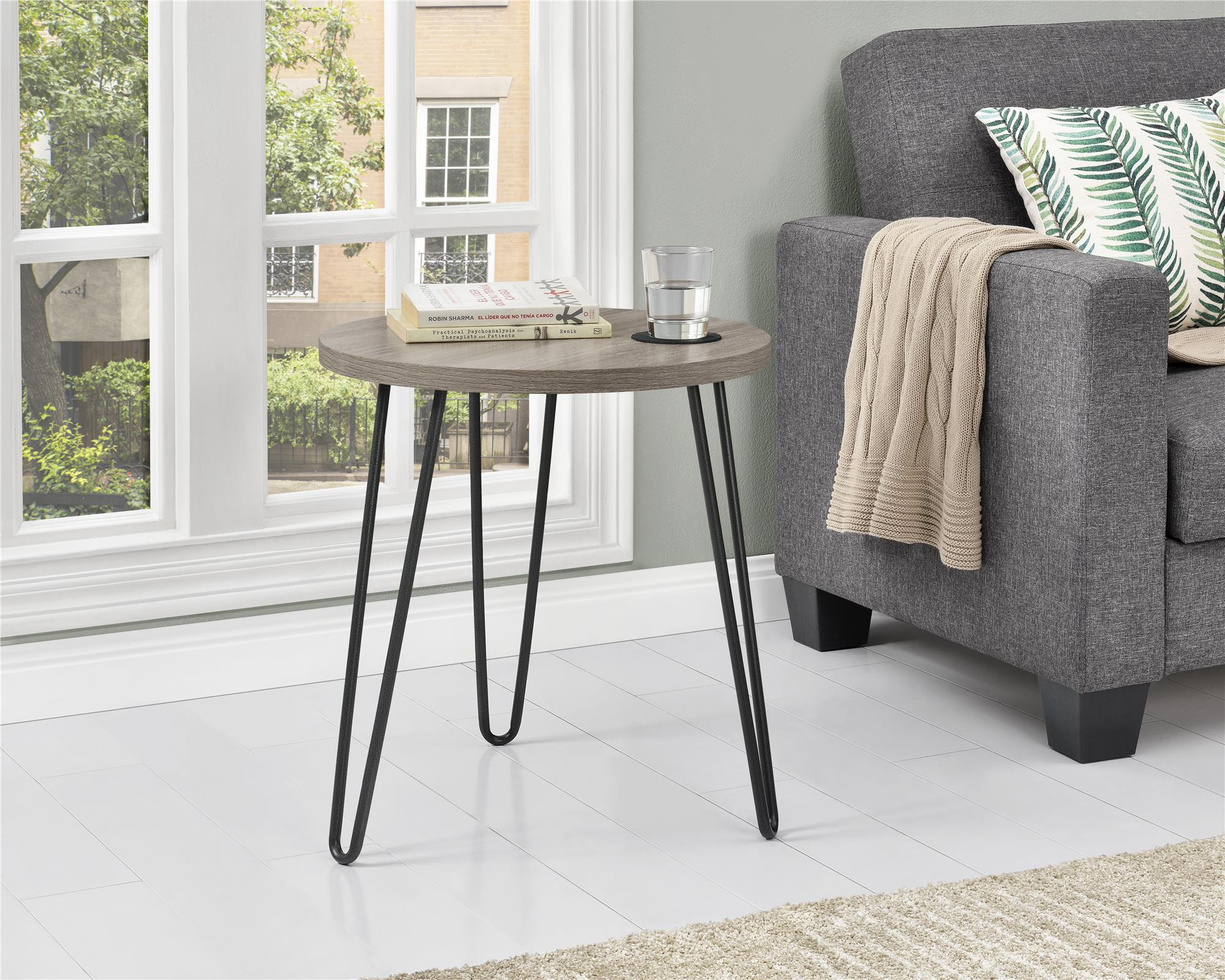 Ameriwood Home Owen Retro Round End Table, Multiple Colors by Ameriwood Home