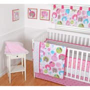 "Sumersault ""Sweet Bear"" 10-Piece Crib Set - pink/multi, one size"