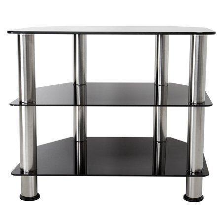 Avf Sdc600 A Tv Stand For Up To 32 Inch Tvs Black Glass Chrome