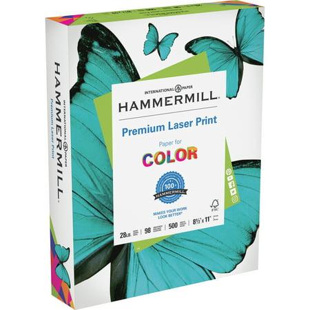 - Hammermill, HAM125534, 28 lb Laser Print Paper, 500 / Ream, White