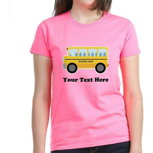 Cafepress Personalized School Bus Women's Dark T-Shirt