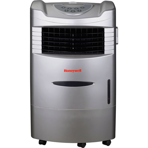 Honeywell CL201AE 42 Pt Indoor Portable Evaporative Air Cooler with Remote Control, Silver