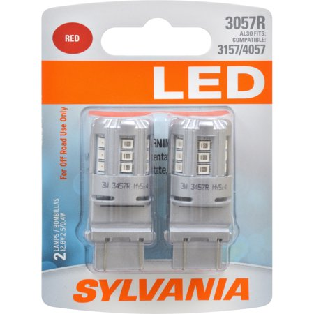 2 pk sylvania 3057 red led automotive bulb. Black Bedroom Furniture Sets. Home Design Ideas