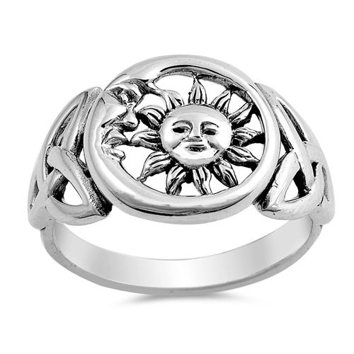 Princess Kylie Sterling Silver Eternity Skulls Band Ring
