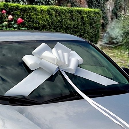 """Large Red Car Bow - 23"""" Red Pull Bow for Big Gifts"""