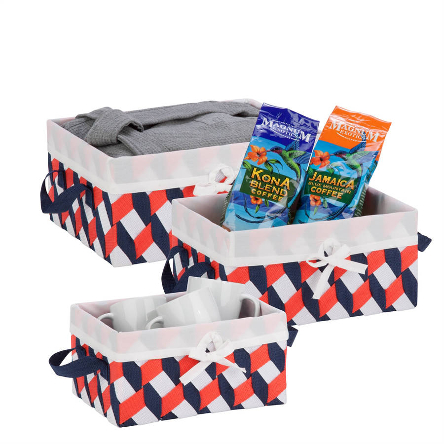 Honey Can Do Twisted Tote, Set of 3 - Multiple Colors