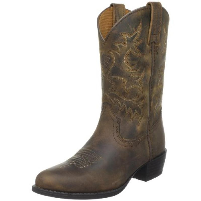 Ariat Heritage Western Boot (Toddler Little Kid Big Kid),Distressed Brown,4 M US Big Kid by