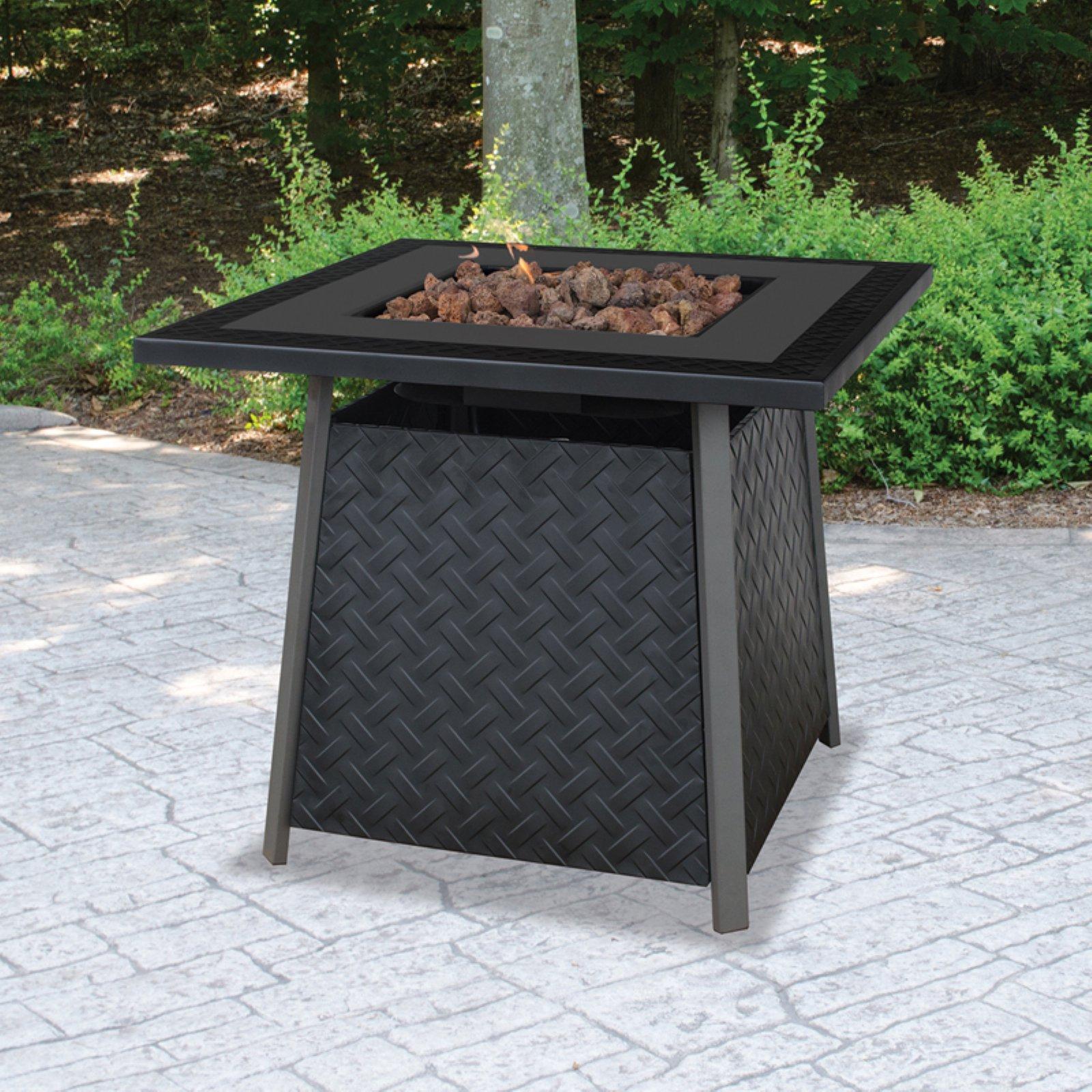 uniflame lp gas slate finish fire pit table - walmart