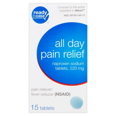 Ready In Case All Day Pain Relief Naproxen Sodium Tablets 220 Mg