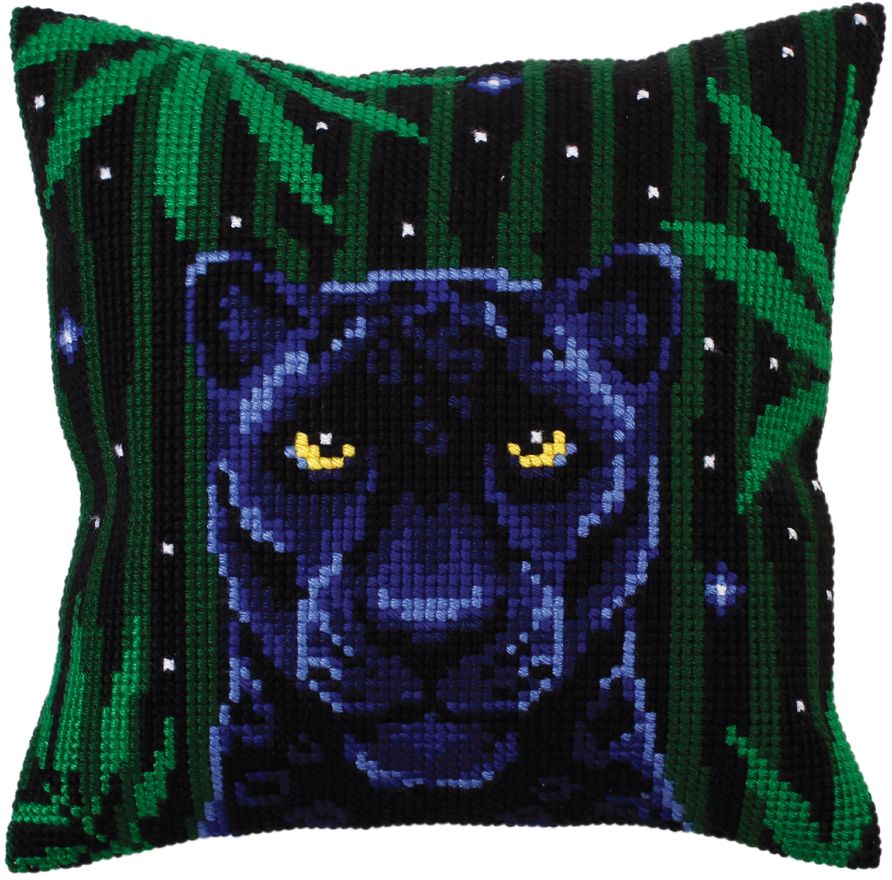 Collection D'Art Stamped Needlepoint Cushion Kit 40X40cm-Night Jungle III