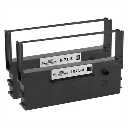 Speedy Inks Compatible Printer Ribbon Cartridge Replacement for Citizen IR71-B (Black, 2-Pack) (Citizen Ribbon Printer Ink)
