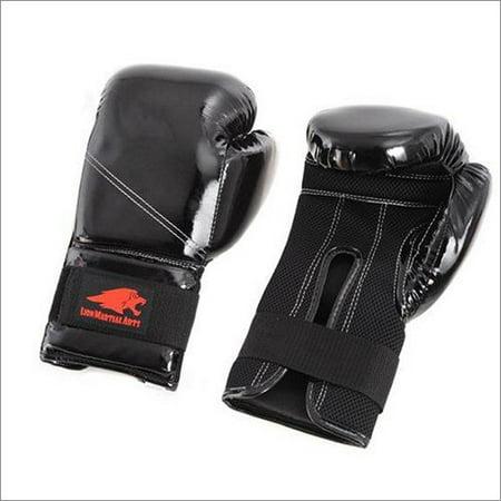 Lion Sports Martial Arts Kick Boxing Glove 10 oz - Black ()