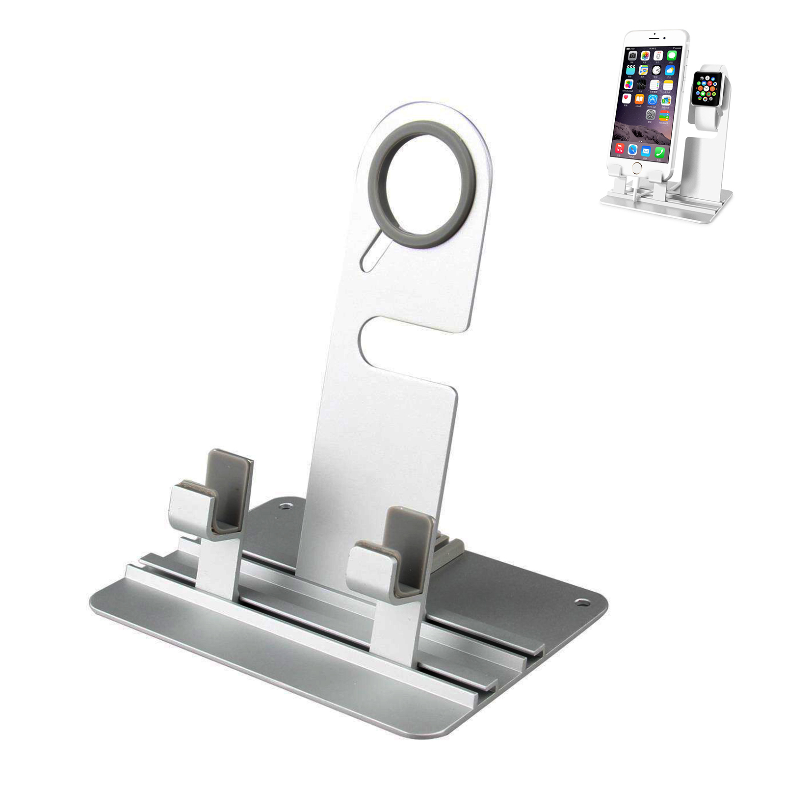 Apple Watch Charger Stand, TSV iPhone Dock,Aluminum Charging Dock Holder Station for Apple iWatch Series 2/Series 1 and iPhone