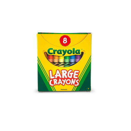 Crayola Large Size Classic Crayons 8 Count, Great For Small Hands](120 Crayola Crayons)