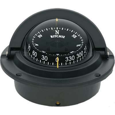 F83 Black Voyager Flush Mount Marine Power Boat Compass Ritchie FO-3226 by RITCHIE COMPASSES