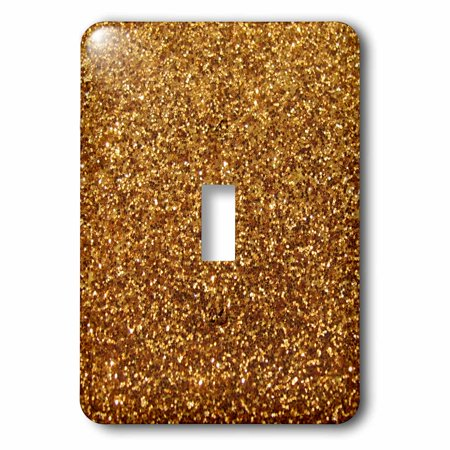 - 3dRose Gold Faux Glitter - photo of glittery texture - glam sparkles sparkly bling - glam stylish girly, 2 Plug Outlet Cover
