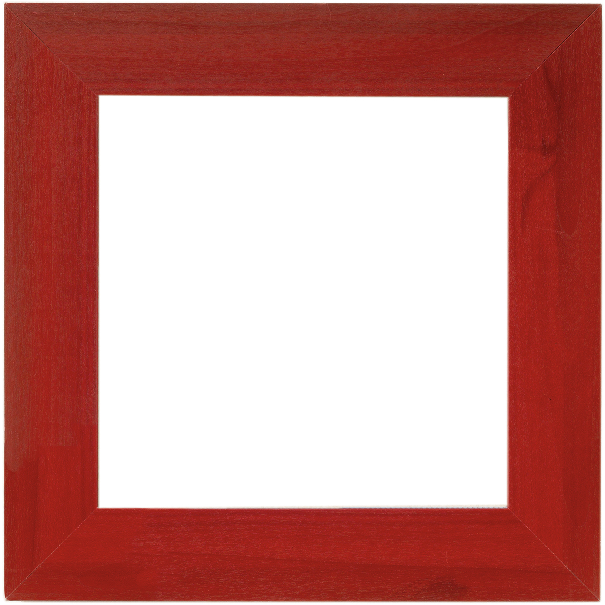 "Wooden Frame 6""X6""-Holiday Red"