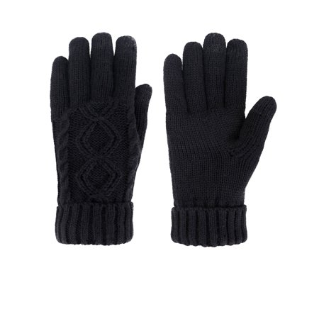 Simplicity Women's Three Fingers Touchscreen Wool Knit Gloves,