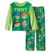 Teenage Mutant Ninja Turtles Boys Green Fleece Sleepwear Pajama Set