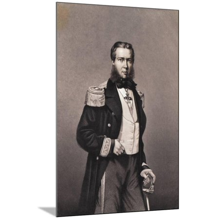 Maximilian as Archduke in Uniform with Sword Wood Mounted Print Wall Art (Mountie Uniform)