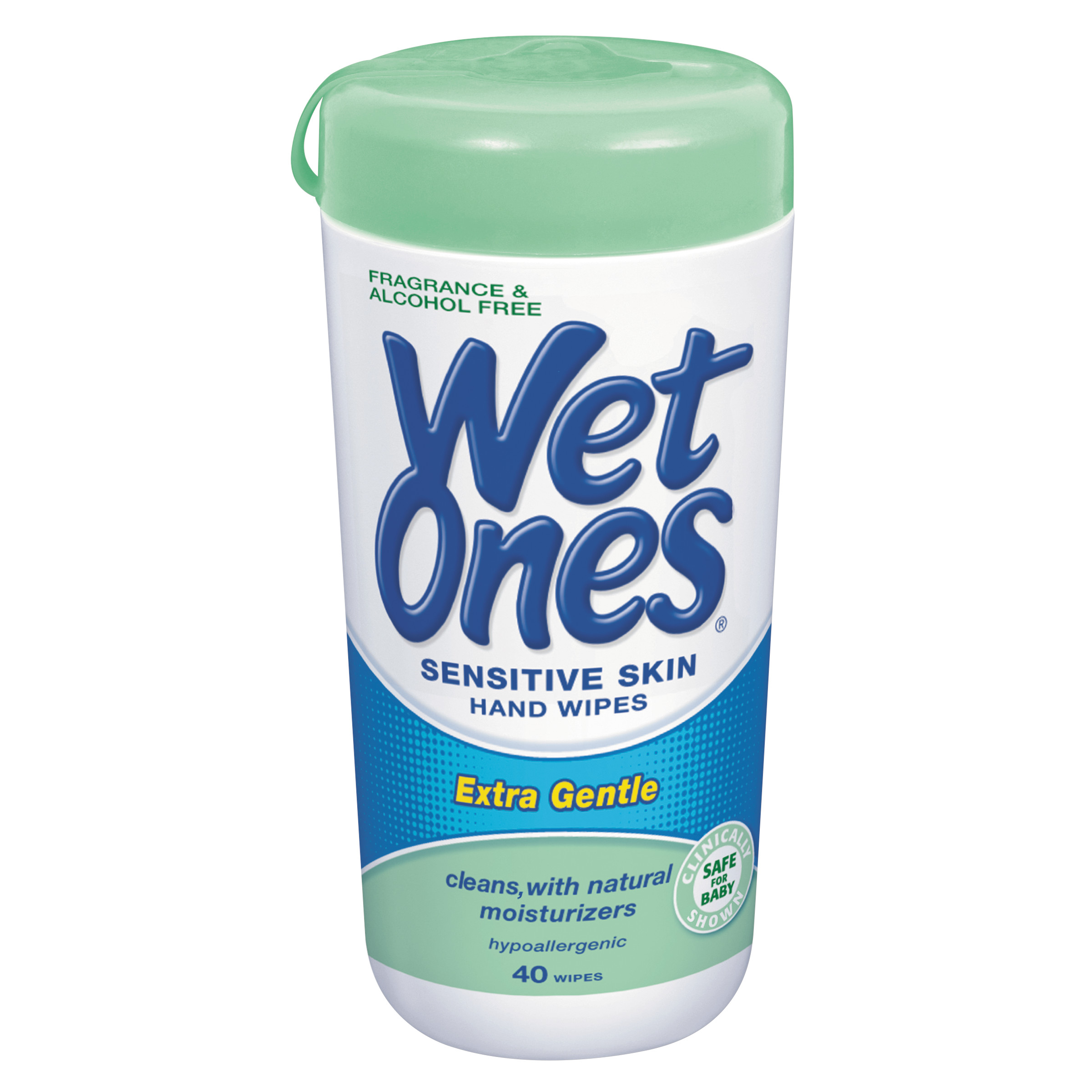 Wet Ones Sensitive Skin Hand Wipes Canister - 40 Count