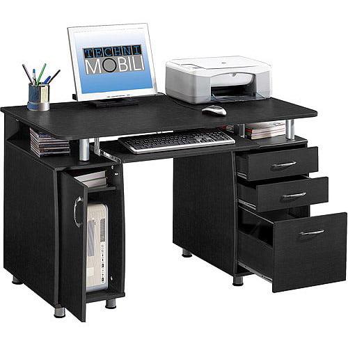 Techni Mobili Super Storage Computer Desk, Espresso