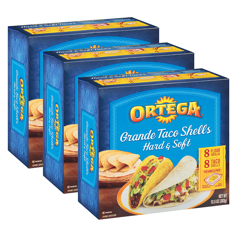 Ortega Grande Taco Shells Hard & Soft - 16 Count