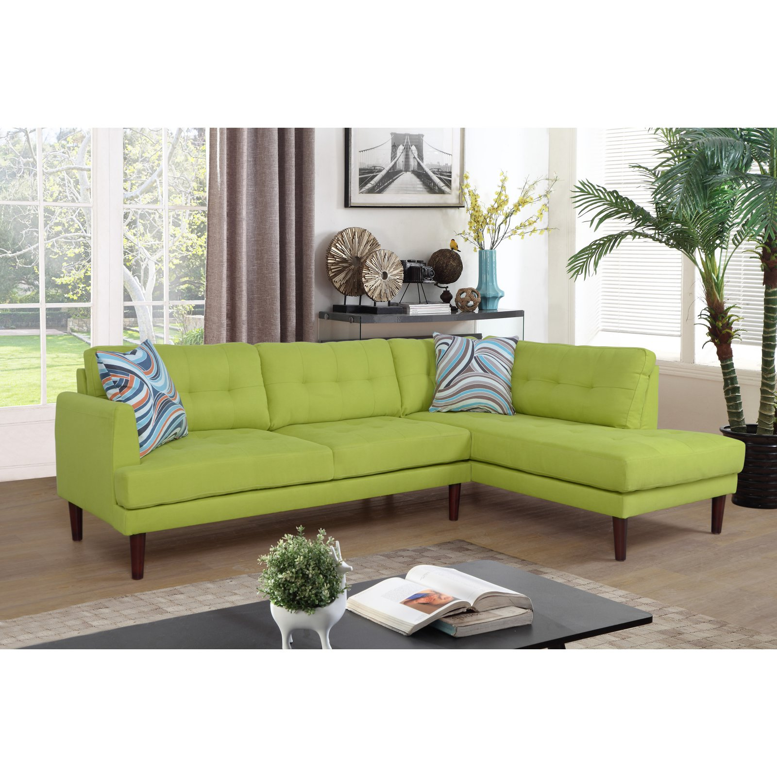 Beverly Fine Furniture Linen Sectional Sofa