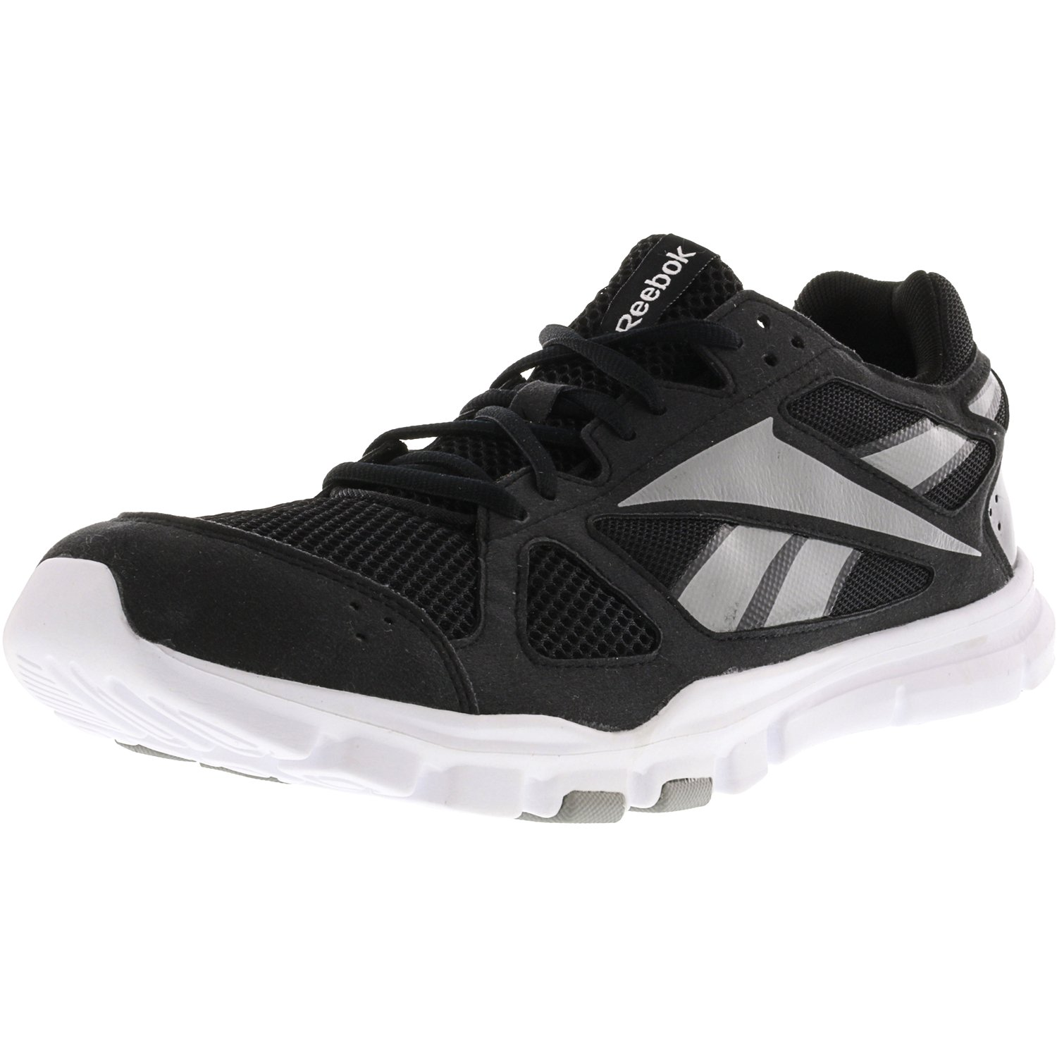 Reebok Men's Yourflex Train 2.0 Black / Tin Grey White Ankle-High Training Shoes - 11M