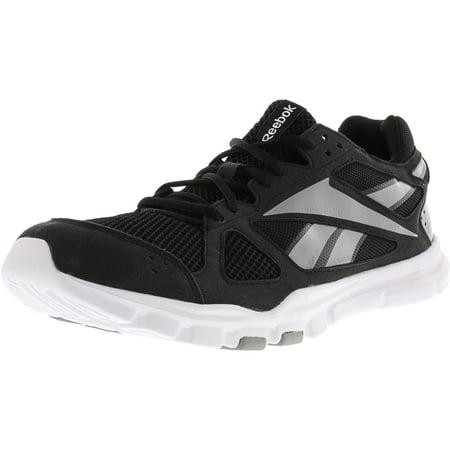 Reebok - Reebok Men s Yourflex Train 2.0 Black   Tin Grey White Ankle-High Training  Shoes - 11M - Walmart.com 2eb078ab2