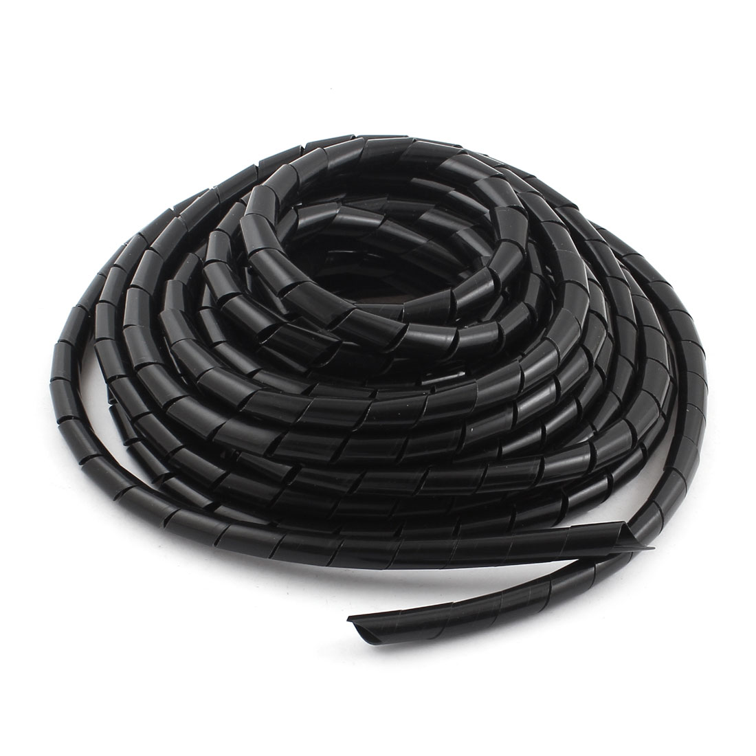 Unique Bargains Black Home TV 10mm Cable Wire Wrap Management Organising 9m