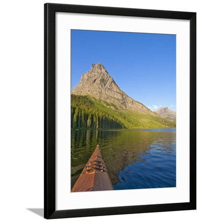 Kayaking on Two Medicine Lake in Glacier National Park, Montana, USA Framed Print Wall Art By Chuck