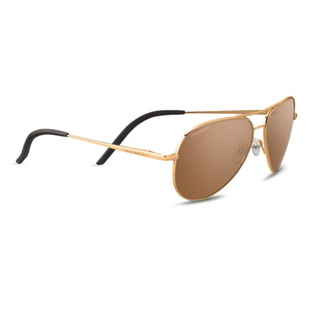 Serengeti 8551 Sunglasses Carrara Small Shiny Bold Gold PzG Drivers Gold (Serengeti Ladies Sunglasses)