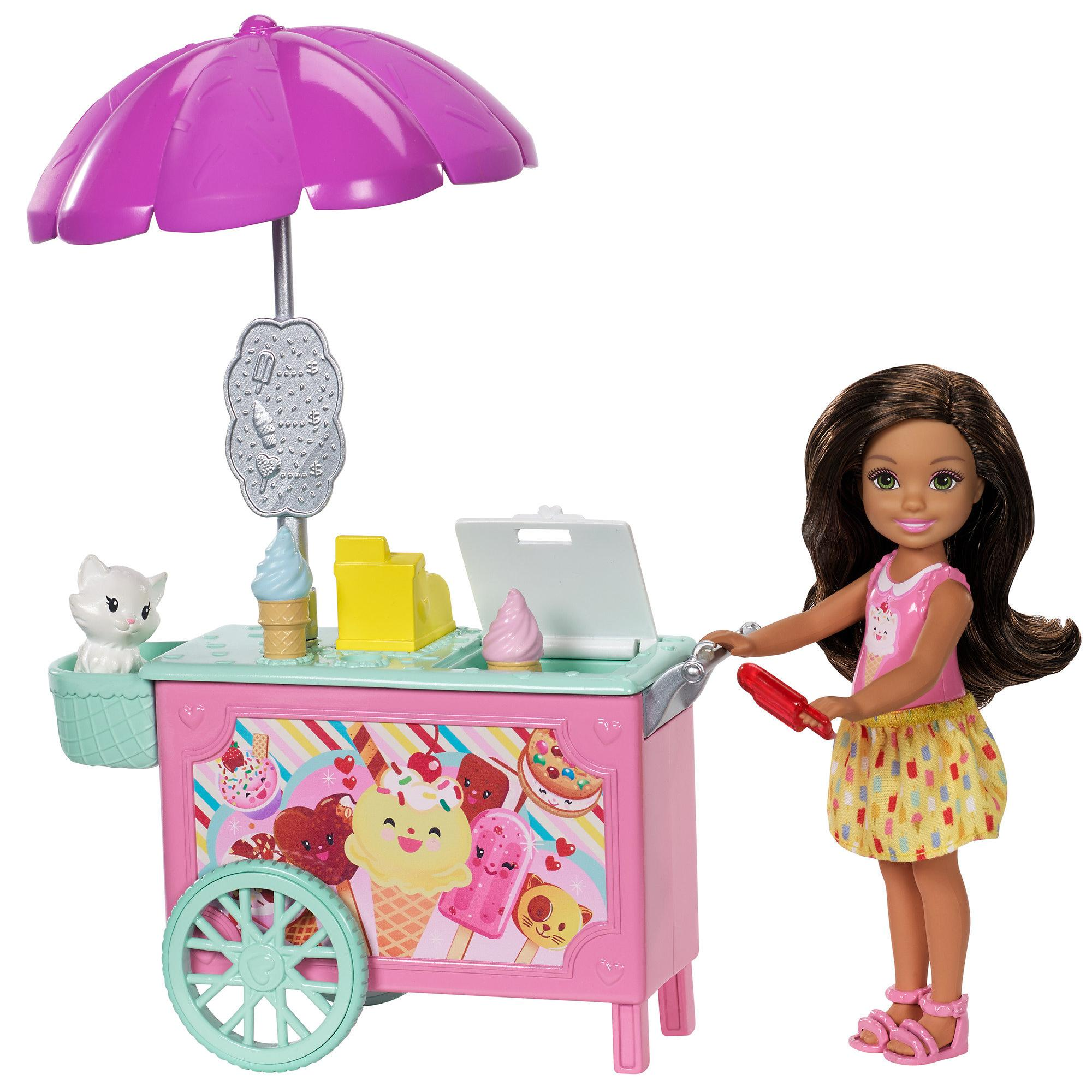 Barbie Club Chelsea Pet Ice Cream Cart by Mattel
