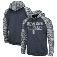 Oklahoma Sooners Colosseum Youth OHT Military Appreciation Digi Camo Raglan Pullover Hoodie - Charcoal