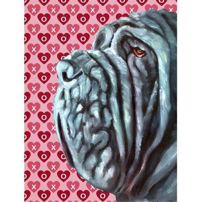 Neapolitan Mastiff Hearts Love And Valentines Day Flag Garden Size - image 1 de 1