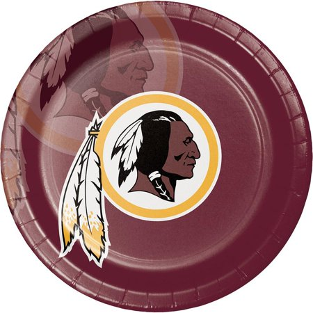 Creative Converting Washington Redskins Paper Plates, 8 ct - Redskins Party