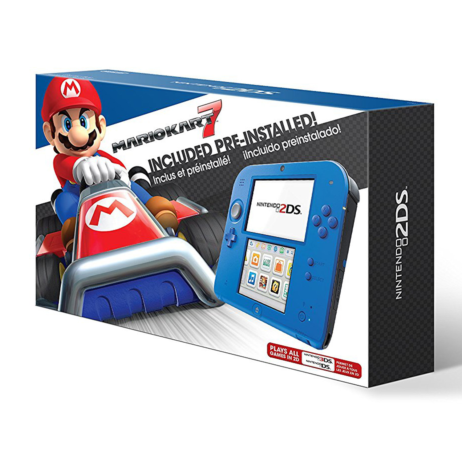 Nintendo 2DS Electric Blue 2 System with Mario Kart 7 (Nintendo 2DS)