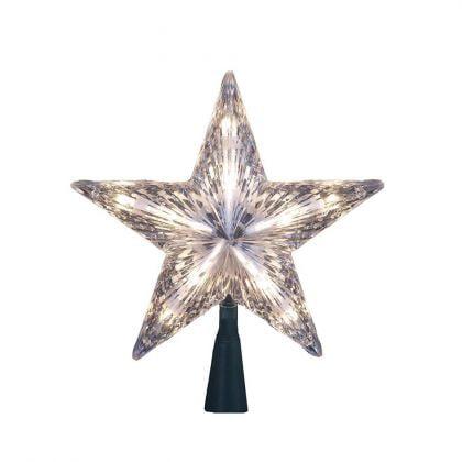 Kurt Adler 10-Light 7-Inch Clear Star Treetop