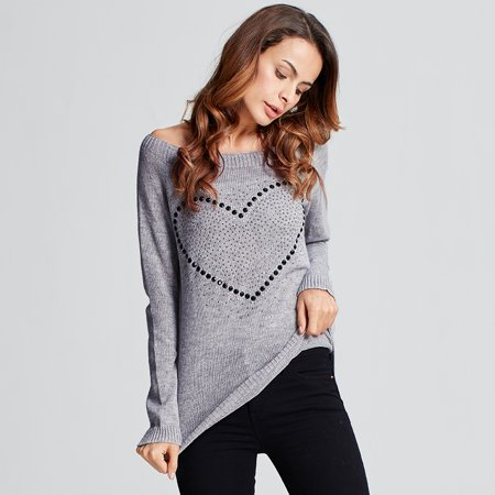 Celmia Women Long Sleeve Sweater Knitted Loose Casual Pullover Sweaters Blouse Shirt Sweatshirts