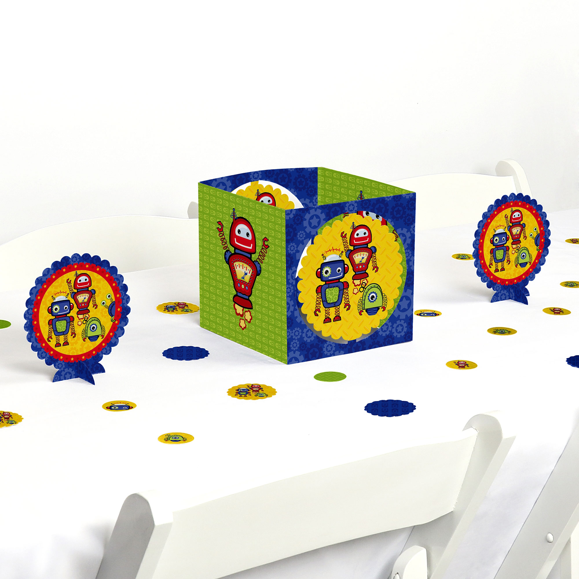 Robots - Birthday Party or Baby Shower Centerpiece & Centerpiece & Table Decoration Kit