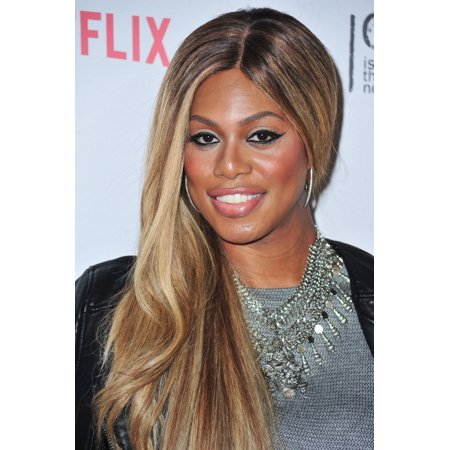 Laverne Cox At Arrivals For Netflix Celebrates Orange Is The New Black With Orangecon 2015 Skylight Clarkson Square New York Ny June 11 2015 Photo By Gregorio T Binuyaeverett Collection Photo Print