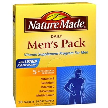 Nature Made Men S Pack Daily Supplement Program For Men