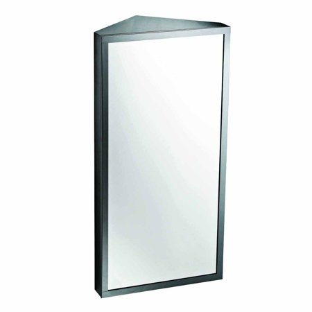 - Renovators Supply Corner Wall Mount Stainless Steel Medicine Cabinet with Mirror