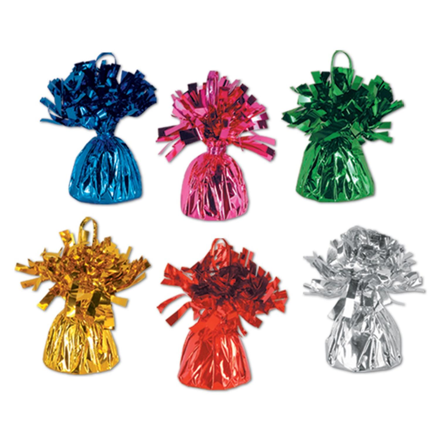 Club Pack of 12 Party Balloon Weight Decorative Birthday Centerpieces 6 oz.