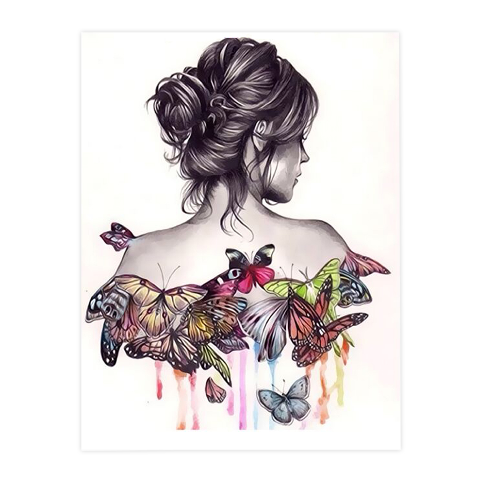 Woman Art Portrait Paint By number For Adults Kit Diy Painting Kit Painting On Canvas Wall Picture Frame Set Diy Painting Wall Picture