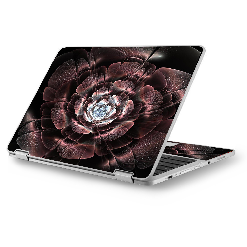 "Skins Decals for Asus Chromebook 12.5"" Flip C302CA Laptop Vinyl Wrap / Abstract Rose Flower"