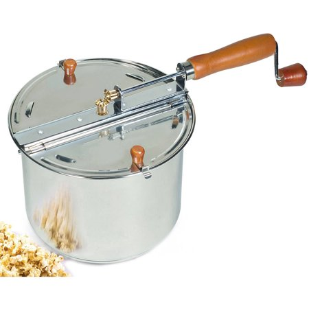 Cook N Home Stainless Steel Stovetop Popcorn Popper, 6.5-qt