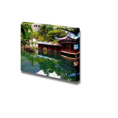 """Beautiful Scenery Landscape the Scene of the Chinese Garden - Canvas Art Wall Decor - 12"""" x 18"""""""